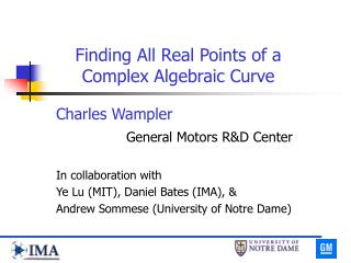 Finding All Real Points of a Complex Algebraic Curve