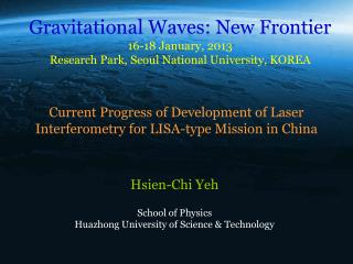 Current Progress of Development of Laser Interferometry for LISA-type Mission in China