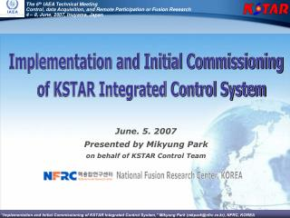 The 6 th  IAEA Technical Meeting