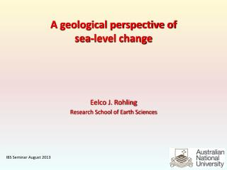A geological perspective of  sea-level change