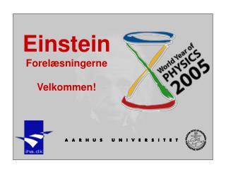 Einstein Forelæsningerne