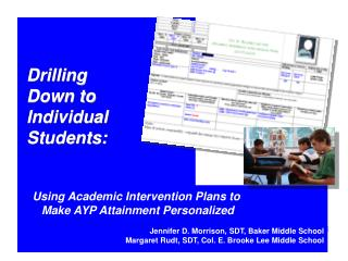Drilling  Down to  Individual Students:
