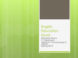 English Education Issues