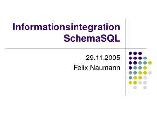 Informationsintegration SchemaSQL