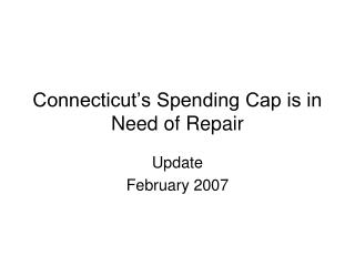 Connecticut's Spending Cap is in Need of Repair