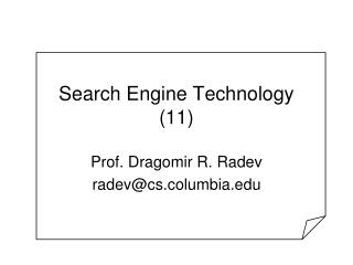 Search Engine Technology (11)