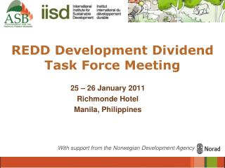 REDD Development Dividend Task Force Meeting
