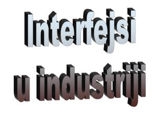 Interfejsi u industriji