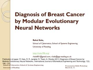 Diagnosis of Breast Cancer by Modular Evolutionary Neural Networks