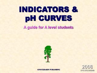 INDICATORS  pH CURVES A guide for A level students