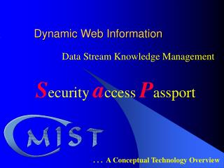 Dynamic Web Information