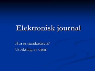 Elektronisk journal