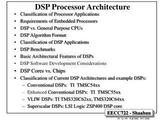 DSP Processor Architecture