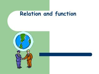 Relation and function