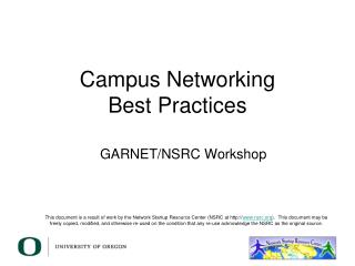 Campus Networking Best Practices