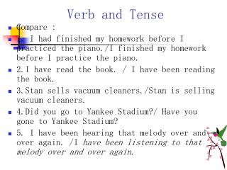 Verb and Tense