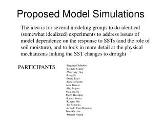 Proposed Model Simulations