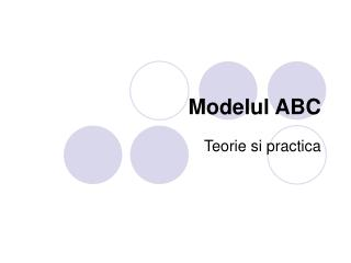 Modelul ABC