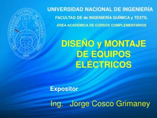 Ing.   Jorge Cosco Grimaney