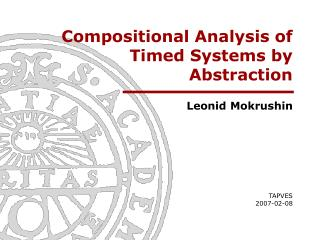 Compositional Analysis of Timed Systems by Abstraction