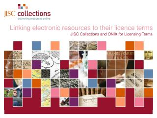 Linking electronic resources to their licence terms
