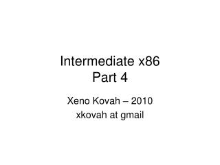 Intermediate x86 Part 4