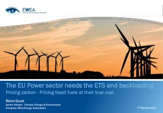 The EU Power sector needs the ETS and backloading