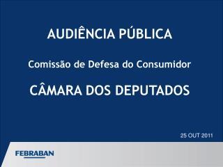 AUDIÊNCIA PÚBLICA Comissão de Defesa do Consumidor CÂMARA DOS DEPUTADOS