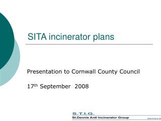 SITA incinerator plans
