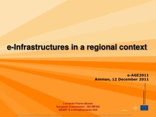 e-Infrastructures in a regional context