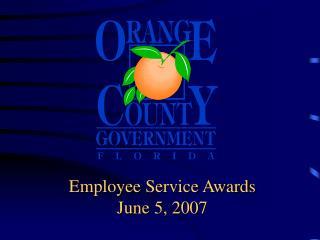Employee Service Awards June 5, 2007
