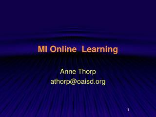 MI Online  Learning