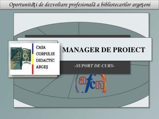 MANAGER DE PROIECT