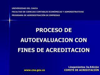 PROCESO DE AUTOEVALUACION CON FINES DE ACREDITACION