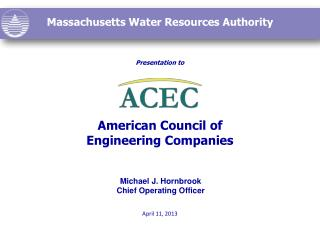 Presentation to American Council of  Engineering Companies