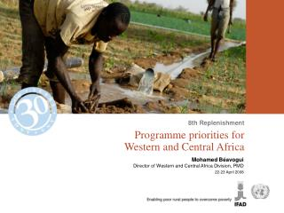 Programme priorities for  Western and Central Africa