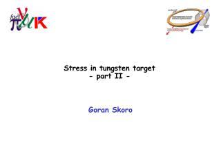Stress in tungsten target - part II -