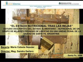 Becaria : María Celeste Nessier Director:  Mag. Sandra Gerlero