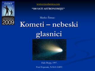 Kometi – nebeski glasnici