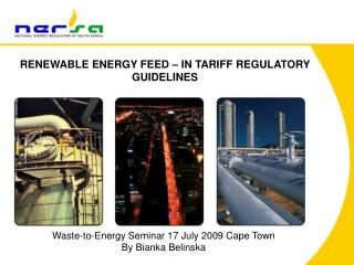 RENEWABLE ENERGY FEED – IN TARIFF REGULATORY GUIDELINES