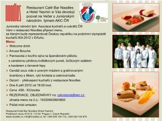 Restaurant Café Bar Noodles