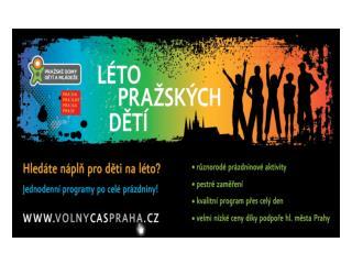 Prázdninová nabídka pro pražské děti a mládež