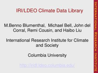 IRI/LDEO Climate Data Library