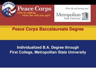 Peace Corps Baccalaureate Degree