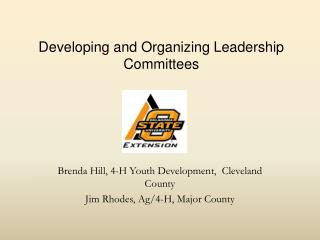 Developing and Organizing Leadership Committees