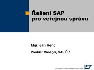 Řešení SAP  pro veřejnou správu