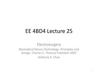 EE 4BD4 Lecture 25
