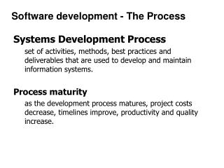 Systems Development Process
