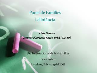 Panel de Famílies i d'Infància