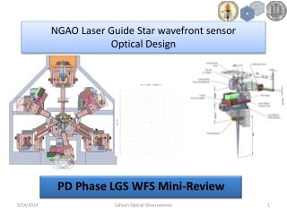 NGAO Laser Guide Star wavefront sensor  Optical Design